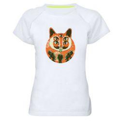 Женская спортивная футболка Alien Cat