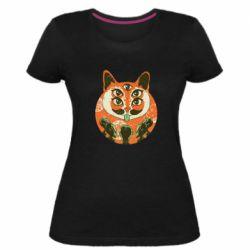 Женская стрейчевая футболка Alien Cat
