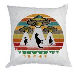 Подушка Aliens and dinosaur
