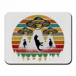 Коврик для мыши Aliens and dinosaur