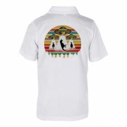 Детская футболка поло Aliens and dinosaur