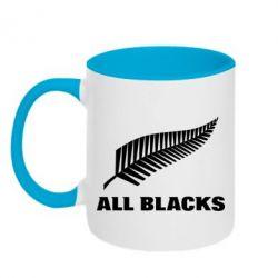 Кружка двухцветная 320ml All Blacks
