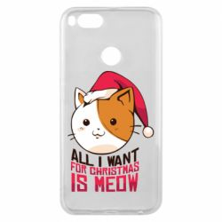 Чехол для Xiaomi Mi A1 All i want for christmas is meow