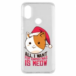 Чехол для Xiaomi Mi A2 All i want for christmas is meow