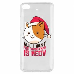 Чехол для Xiaomi Mi 5s All i want for christmas is meow