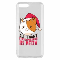Чехол для Xiaomi Mi6 All i want for christmas is meow