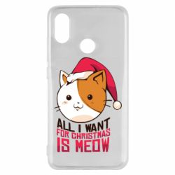 Чехол для Xiaomi Mi8 All i want for christmas is meow