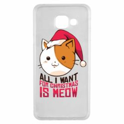 Чехол для Samsung A3 2016 All i want for christmas is meow