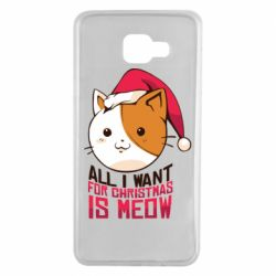 Чехол для Samsung A7 2016 All i want for christmas is meow