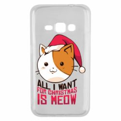 Чехол для Samsung J1 2016 All i want for christmas is meow