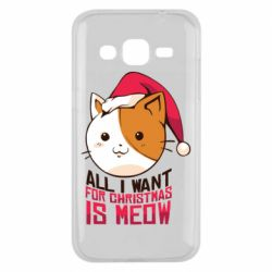 Чехол для Samsung J2 2015 All i want for christmas is meow