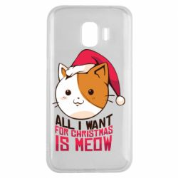 Чехол для Samsung J2 2018 All i want for christmas is meow