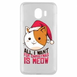 Чехол для Samsung J4 All i want for christmas is meow