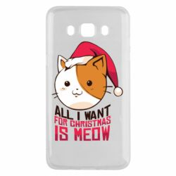 Чехол для Samsung J5 2016 All i want for christmas is meow