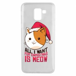 Чехол для Samsung J6 All i want for christmas is meow