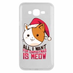 Чехол для Samsung J7 2015 All i want for christmas is meow