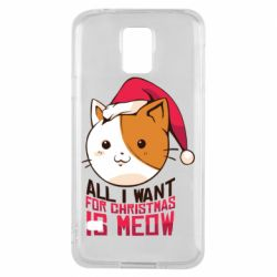 Чехол для Samsung S5 All i want for christmas is meow