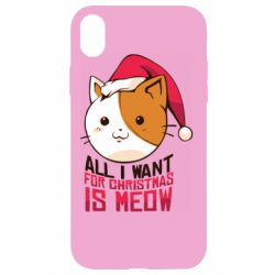 Чехол для iPhone XR All i want for christmas is meow