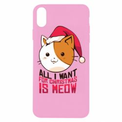 Чехол для iPhone Xs Max All i want for christmas is meow