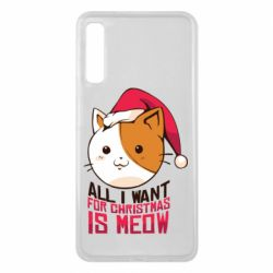 Чехол для Samsung A7 2018 All i want for christmas is meow