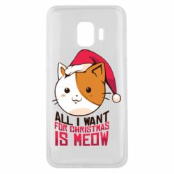 Чехол для Samsung J2 Core All i want for christmas is meow