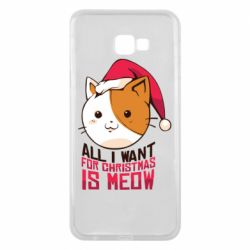 Чехол для Samsung J4 Plus 2018 All i want for christmas is meow