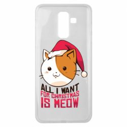 Чехол для Samsung J8 2018 All i want for christmas is meow