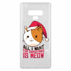 Чехол для Samsung Note 9 All i want for christmas is meow