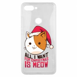 Чехол для Xiaomi Mi8 Lite All i want for christmas is meow