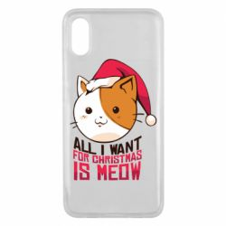Чехол для Xiaomi Mi8 Pro All i want for christmas is meow