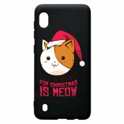 Чехол для Samsung A10 All i want for christmas is meow