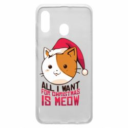 Чехол для Samsung A20 All i want for christmas is meow