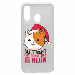 Чехол для Samsung A40 All i want for christmas is meow
