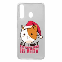 Чехол для Samsung A60 All i want for christmas is meow