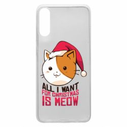 Чехол для Samsung A70 All i want for christmas is meow