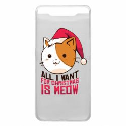 Чехол для Samsung A80 All i want for christmas is meow