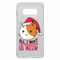 Чехол для Samsung S10e All i want for christmas is meow