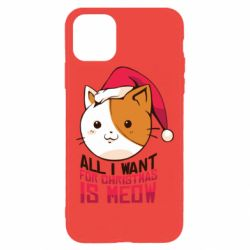 Чехол для iPhone 11 Pro Max All i want for christmas is meow