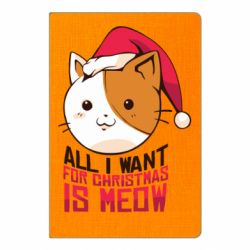 Блокнот А5 All i want for christmas is meow