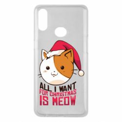 Чехол для Samsung A10s All i want for christmas is meow