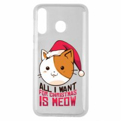 Чехол для Samsung M30 All i want for christmas is meow