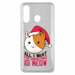 Чехол для Samsung M40 All i want for christmas is meow