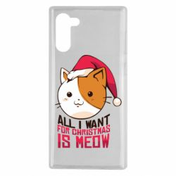 Чехол для Samsung Note 10 All i want for christmas is meow