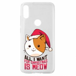 Чехол для Xiaomi Mi Play All i want for christmas is meow