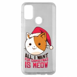 Чехол для Samsung M30s All i want for christmas is meow