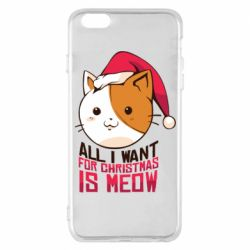 Чехол для iPhone 6 Plus/6S Plus All i want for christmas is meow