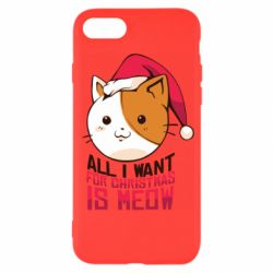 Чехол для iPhone 7 All i want for christmas is meow