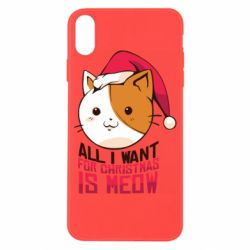 Чехол для iPhone X/Xs All i want for christmas is meow