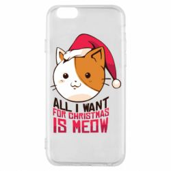 Чехол для iPhone 6/6S All i want for christmas is meow