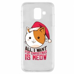 Чехол для Samsung A6 2018 All i want for christmas is meow